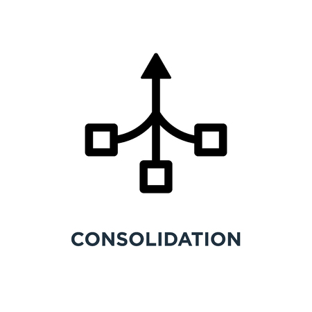 consolidation icon. consolidation concept symbol design, vector illustration