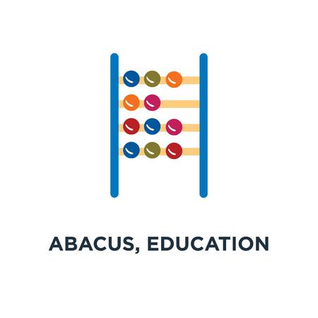 abacus, education icon, symbol of school math concept Illustration