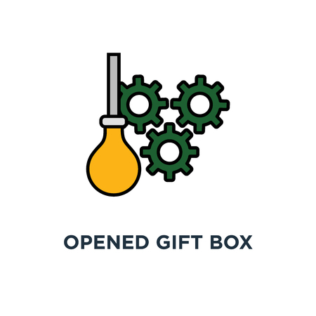 opened gift box icon. surprise concept symbol design, celebration event, surprising gift boxes. give presents . design vector illustration
