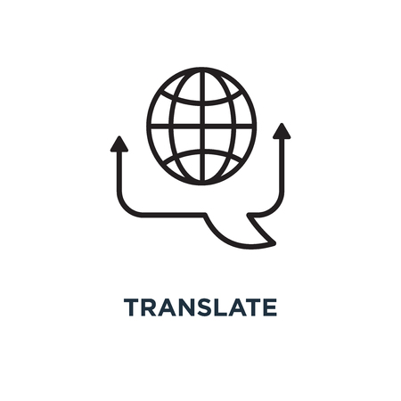translate icon. translate concept symbol design, vector illustration