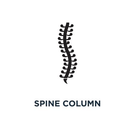 Spine column icon. Simple element illustration. Spine column concept symbol design, vector logo illustration. Can be used for web and mobile. Stock Illustratie