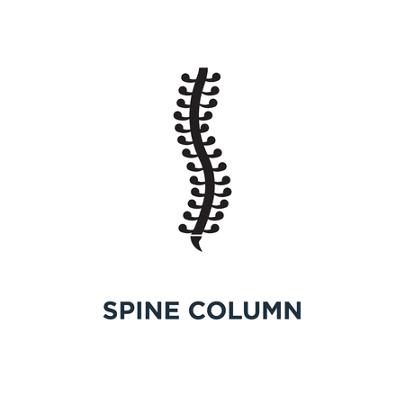 Spine column icon. Simple element illustration. Spine column concept symbol design, vector logo illustration. Can be used for web and mobile. Illustration