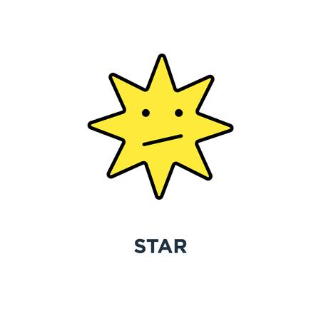 star icon. design of favorite concept symbol design, bookmark, mark or rate, ux / ui for web and mobile design, object, vector illustration