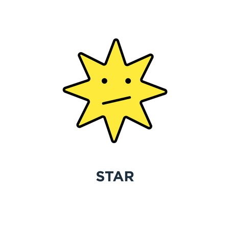 star icon. design of favorite concept symbol design, bookmark, mark or rate, ux / ui for web and mobile design, object, vector illustration