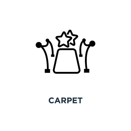 red carpet icon. linear sign concept symbol design, vector illustration