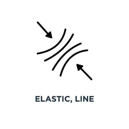 icono de signo de línea elástica. diseño de símbolo de concepto eps10, ilustración vectorial