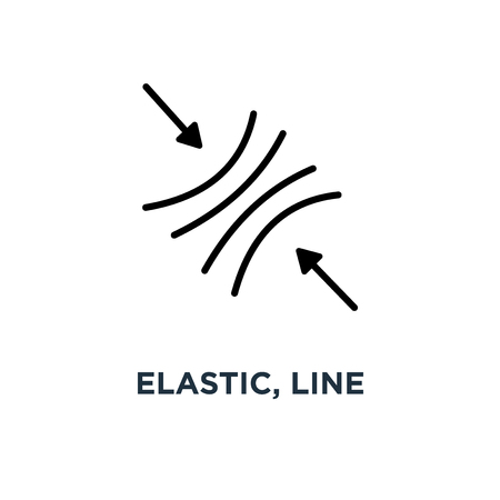 elastic, line sign icon. eps10 concept symbol design, vector illustration