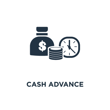 cash advance icon. provide money, return on investment, budget planning, accounting concept symbol design, financial period, annual payment, income growth, finance productivity vector illustration