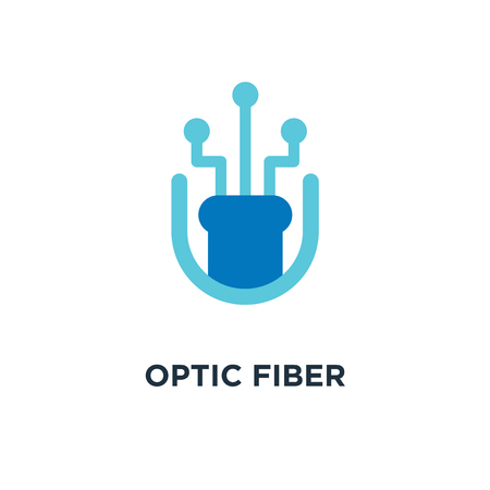optic fiber bandwidth icon. optic fiber bandwidth concept symbol design, vector illustration Çizim