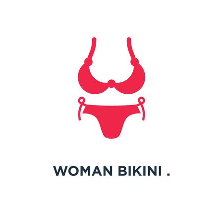 woman bikini . lingerie fashion design icon. swimsuit concept symbol design, vector illustration Illustration