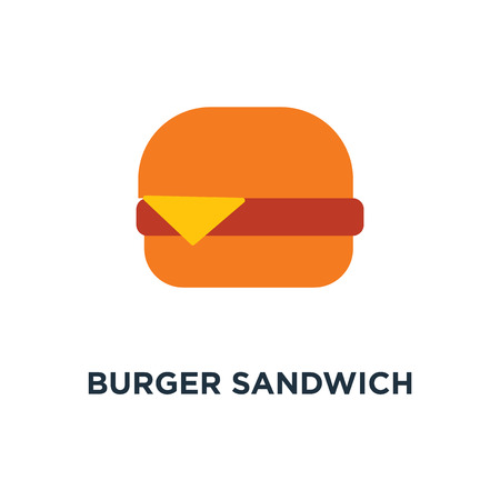 burger sandwich icon. fast food concept symbol design, american meal, unhealthy fastfood, restaurant vector illustration