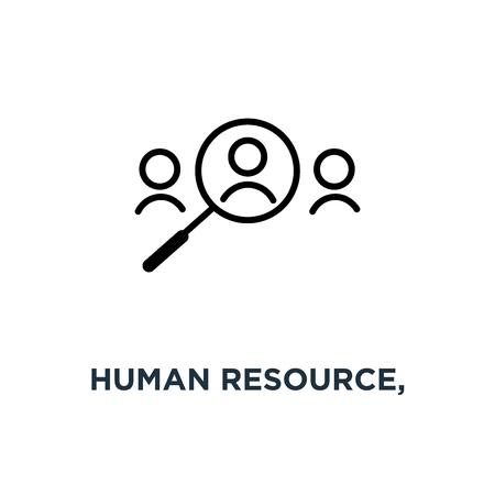 human resource, recruit linear sign icon. editable eps10 concept symbol design, vector illustration