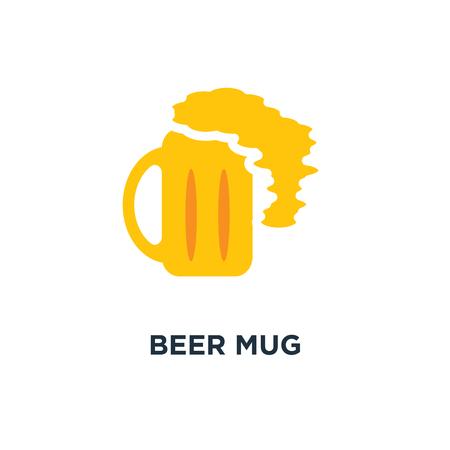 beer mug icon. beer, alcohol sign, beer mug concept symbol design, vector illustration