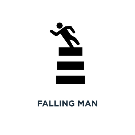 Falling man icon. Simple element illustration. Falling man concept symbol design, vector logo illustration. Can be used for web and mobile.