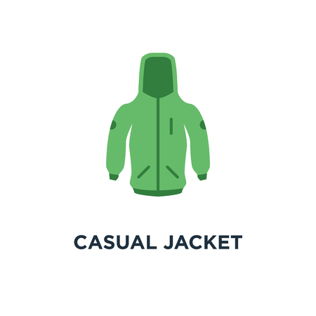 casual jacket icon. clothing fashion concept symbol design, vector illustration Illustration