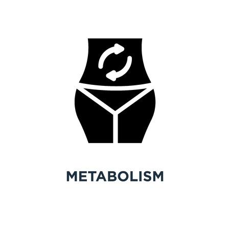 Stoffwechsel-Symbol. Metabolismus-Konzept-Symbolentwurf, Vektorillustration Vektorgrafik