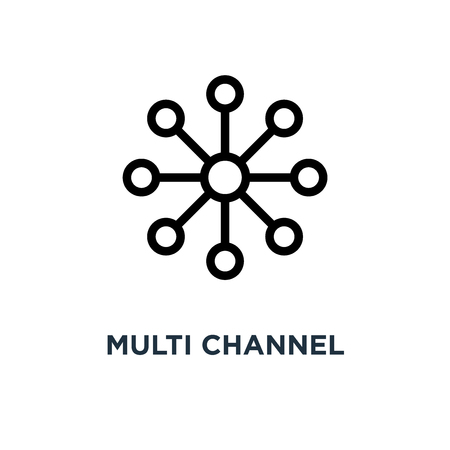 multi channel icon. multi channel concept symbol design, vector illustration Illusztráció