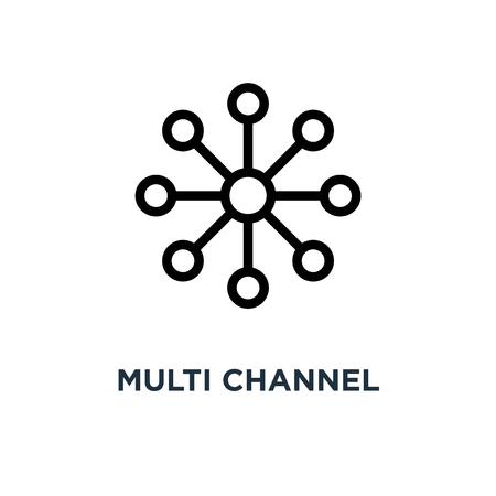 multi channel icon. multi channel concept symbol design, vector illustration Illustration