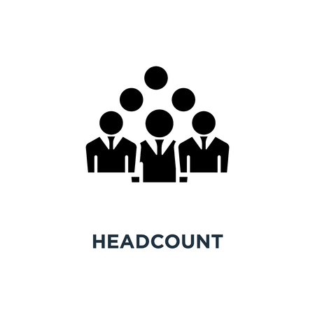 headcount icon. headcount concept symbol design, vector illustration