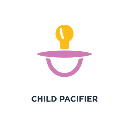 child pacifier icon. baby child concept symbol design, sleep toy sign vector illustration Stock Vector - 108987917