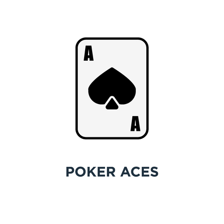 poker aces icon. casino gambling cards concept symbol design, vector illustration Foto de archivo - 108987927