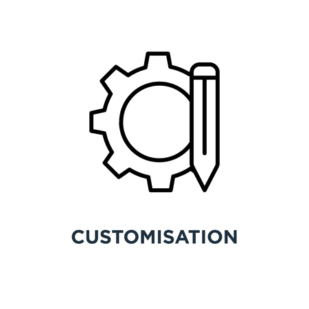 customisation icon. customisation concept symbol design, vector illustration