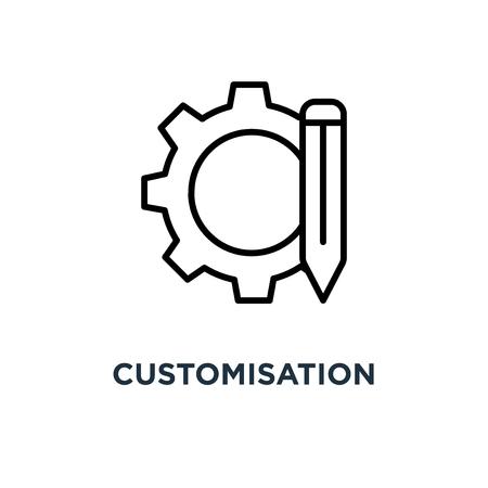 maatwerk pictogram. maatwerk symbool conceptontwerp, vectorillustratie