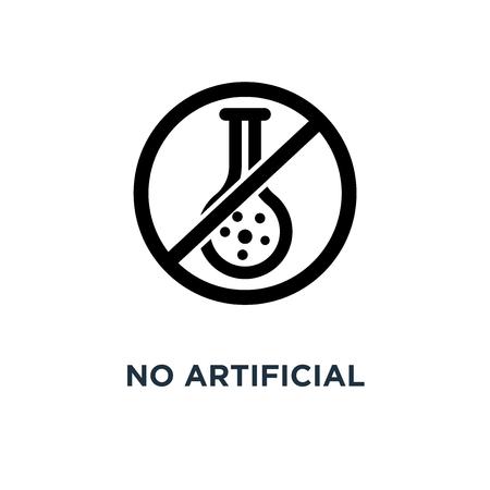 sin icono de sabores artificiales. sin sabores artificiales concepto símbolo diseño, ilustración vectorial