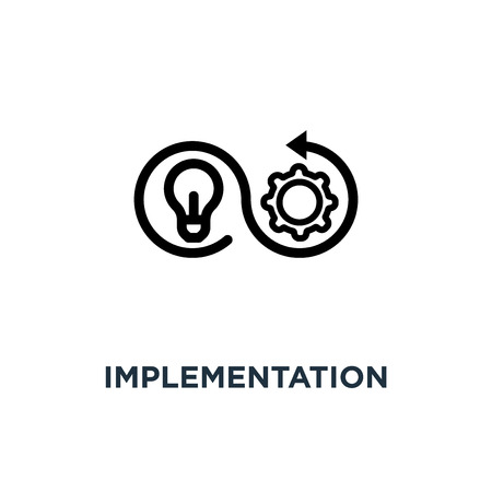implementation icon. implementation concept symbol design, vector illustration Vectores
