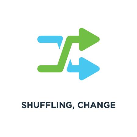 shuffling, change order, random sign icon. music concept symbol design, vector illustration