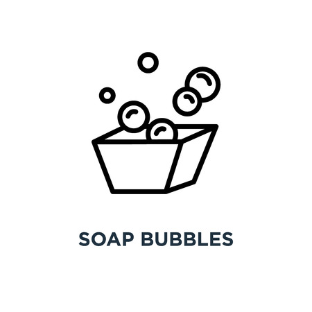 soap bubbles icon. soap bubbles concept symbol design, vector illustration