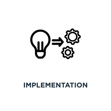 implementation icon. implementation concept symbol design, vector illustration Vektoros illusztráció