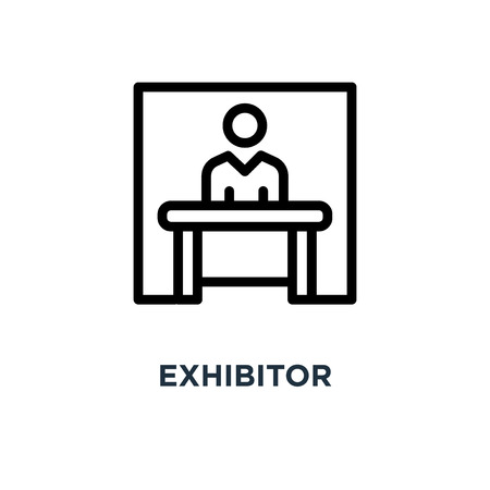 exhibitor icon. exhibitor concept symbol design, vector illustration Illustration