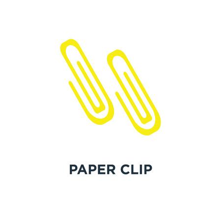 paper clip attachment icon. paper clip, email attachment, attached file concept symbol design, vector illustration Ilustrace