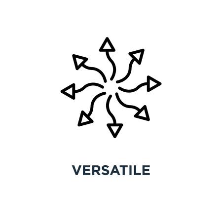 icône polyvalente. conception de symbole de concept polyvalent, illustration vectorielle