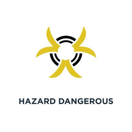 hazard dangerous icon. biohazard concept symbol design, danger sign vector illustration Vecteurs