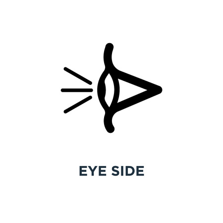 eye side icon. eye side concept symbol design, vector illustration