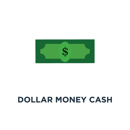 dollar money cash icon. cash register concept symbol design, money payment, dollar sign vector illustration