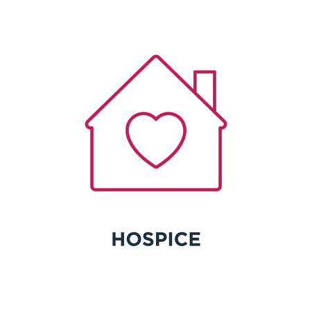 hospice icon. of protection concept symbol design, love house. vector illustration