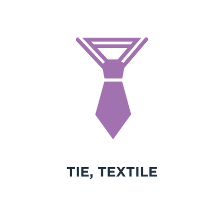 Tie Textile Apparel Fashion Icon Design Fashion Concept Symbol