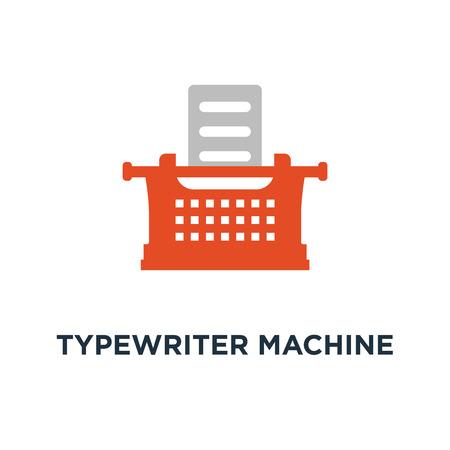 typewriter machine icon. type letter machine concept symbol design, keyboard typeing vector illustration