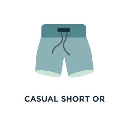 casual short or pants icon. clothing fashion wear template concept symbol design, vector illustration