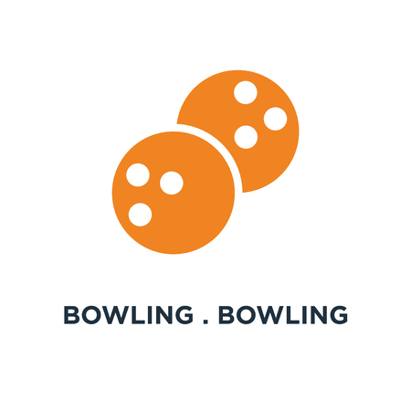 bowling . bowling ball icon. sports game concept symbol design, vector illustration Ilustração