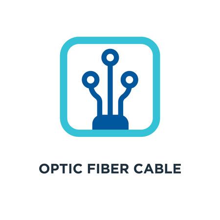 optic fiber cable linear icon. optic fiber cable linear concept symbol design, vector illustration
