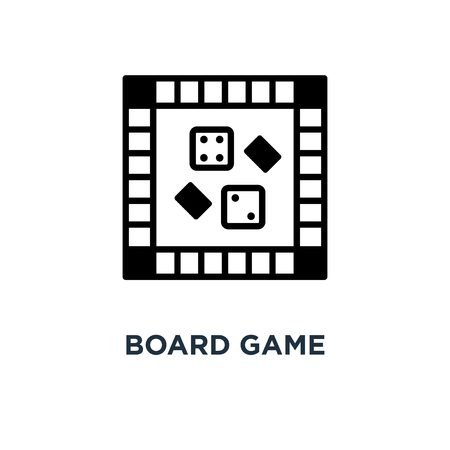board game icon. board game concept symbol design, vector illustration Illustration