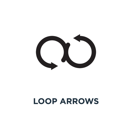 Loop arrows icon. Simple element illustration. Loop arrows concept symbol design, vector logo illustration. Can be used for web and mobile.