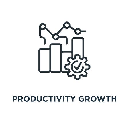icono de crecimiento de la productividad. diseño de símbolo de concepto lineal, ilustración vectorial
