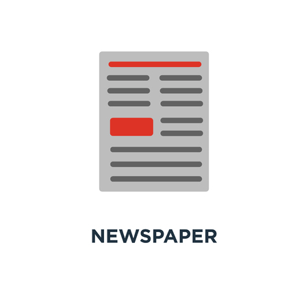 newspaper icon. daily newsletter concept symbol design, news, media publication, news article vector illustration