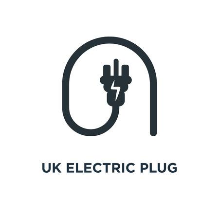 uk electric plug icon. uk electric plug concept symbol design, vector illustration
