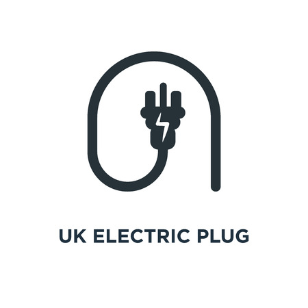 uk electric plug icon. uk electric plug concept symbol design, vector illustration